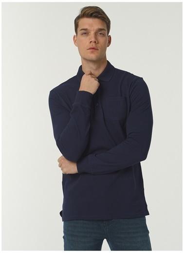 Fabrika Comfort Fabrika Comfort Polo Yaka Düz Lacivert Sweatshirt Lacivert